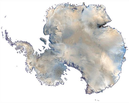 satellite map of Antarctica